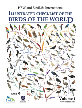 Illustrated Checklist of the Birds of the World - Vol. I